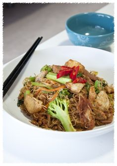 Stir Fry Rice Vermicelli Noodles (Char Bee Hoon) | Asian Chinese Recipes