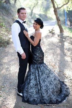 Black #wedding #dress