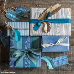 Masculine Gift Wrap Printable