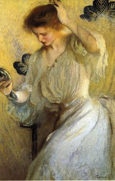 The Mirror (also known as Girl with a Mirror)  Edmund Tarbell