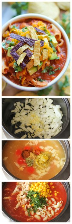 Chicken Tortilla Soup - A quick and easy, no-fuss chicken tortilla soup with so many amazing flavors!