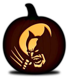 Wolverine pumpkin pattern