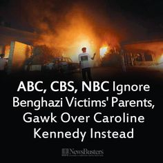 NewsBusters.org's photo: Apparently testimony by parents of the Benghazi victims isn't really important news to the major networks.  The media has completely FAILED to hold this Administration responsible for it's Benghazi failures.