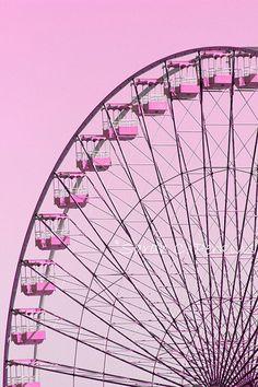Pink Ferris Wheel Photography Whimsical Carnival Art Girls Room/Nursery Wall Fine Art 11x14 Vertical Print State Fair Ride Fucshia Decor on Etsy, £27.59