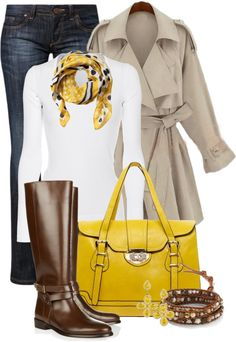 """""""Sunny Yellow"""" by happygirljlc ❤ liked on Polyvore"""
