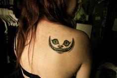 Cheshire cat, Alice in Wonderland, tattoo