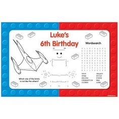 Space Toys Personalized Activity Mats