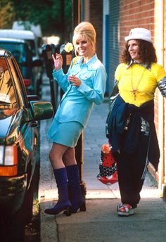TV SHOW ABSOLUTELY FABULOUS FILMING IN LONDON