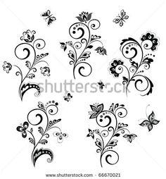 stock vector : Wedding borders (black and white)