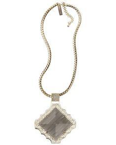 Savannah Necklace in Slate - Kendra Scott.