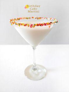 birthday cake drink, birthday cocktails, birthdays, cake cocktails, birthday drink