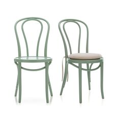 Vienna Mint Side Chair and Cushion  | Crate and Barrel