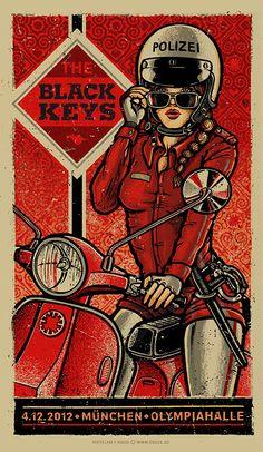 INSIDE THE ROCK POSTER FRAME BLOG: The Black Keys Munich & Dusseldorf Posters by Lars P Krause World Premier Exclusive