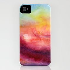 Watercolor iPhone case.