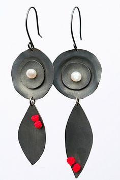 Rose Pearl Earrings by Yara Afshar on etsy