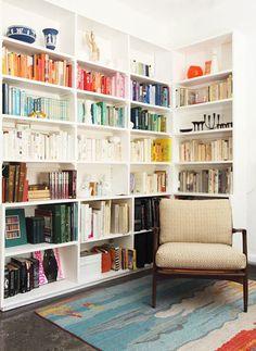 colour block bookcase