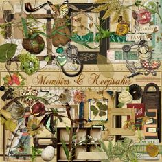 A wonderful heritage themed scrapbook kit.