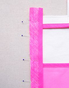 Molly's Sketchbook: Inside OutBag - The Purl Bee - applying bias tape