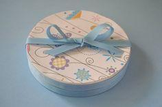 upcycling those laughing cow cheese wedge boxes into cute gift boxes