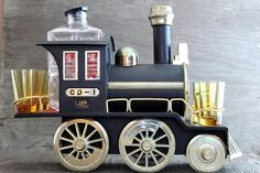 Vintage Iron Horse Liquor Decanter Mini Bar Train by VintagePatron, $49.95