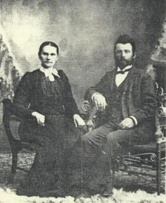 Tobias J. Krehbiel and wife, Maria Goering.  Tobias Krehbiel was son of Johann Krehbiel (born November 12, 1829 in Russia) and  Anna Katharina Stucky. Maria was daughter of John Goering and Elizabeth Graber. Tobias and Maria were buried Hopefield Church Cemetery Moundridge, Kansas  (1) From: Uploaded by user, no url