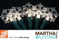 Recycle old strands of Christmas lights @Home Depot. You'll receive $3, $4, or $5 off new LED Christmas lights, including Martha Stewart Living lights. Through 11/14.