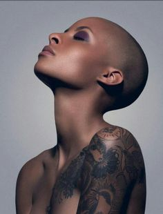 "It is only in the more recent years that ""bald"" is ""beautiful,"" whether by choice or by circumstance. It is interesting that sometimes society criticizes women with no hair as de-feminized, depending on their situation."