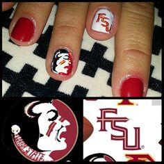 FSU Seminole nails