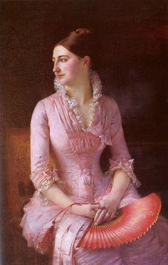 Portrait of Anne-Marie Dagnan by Gustave Courtois, 1880