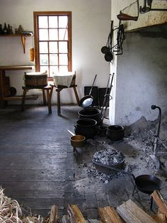 early kitchen fireplace
