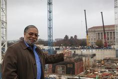 NMAAHC Director Lonnie Bunch on site during Installation Day.  #nmaahc #construction