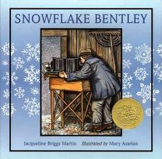 1999 - Snowflake Bentley by Jacqueline Briggs Martin - A biography of a self-taught scientist who photographed thousands of individual snowflakes in order to study their unique formations. jacquelin, snowflak bentley, brigg martin, snowflakes, caldecott award, caldecott medal, children book, caldecott winner, individu snowflak