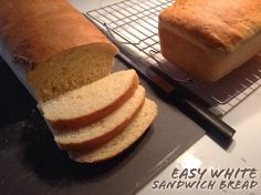 Easy White Sandwich Bread | Jornie.com ~ this bread is so great for toast, PB&J, panini, and pretty much anything else you can think of! Plus, it only takes minutes of your day to put together! // *pin to save for later*