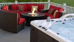 Hot tub and fire pit