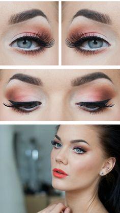 eye makeup, eyeshadow, soft pink, daily makeup, lip colors, makeup looks, best eyebrows, linda hallberg eyebrows, best eyebrow makeup