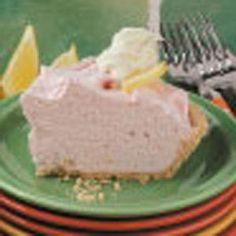 Pink Lemonade Pie - A family favorite!  We top it with fresh raspberries.  <3 Craftyagentmom