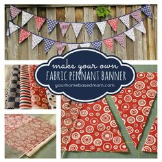 Fabric Pennant Banner by Your Homebased Mom