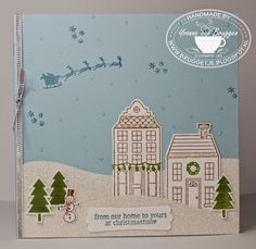 Yvonne's Stampin' and Scrap Blog: Stampin' Up! Sneak peek Christmas Card with stampset Holiday Home