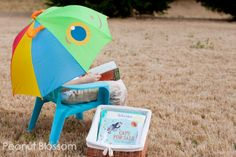 Our Happy Giddy Kids' Umbrella works well on a spring afternoon adventure with your early reader.