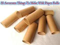 39 Awesome Things To Make With Paper Rolls - LivingGreenAndFrugally.com