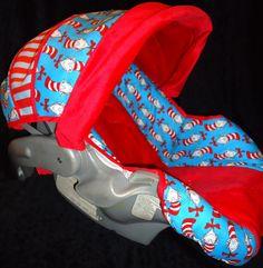 Dr. Seuss Baby Car Seat Cover. $70.00, via Etsy.