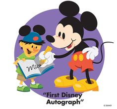 First Disney  Character Autograph
