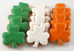 Small Shamrock Cookies