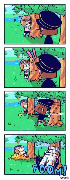 Watch out below in Animal Crossing.