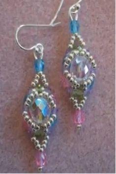 bead weav, bead pattern, earring video, beadwork, bead earring, earring kit, halo earring, simpl earring, earrings