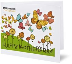 Amazon Gift Card - Print - Happy Mother's Day - Butterflies $50.00