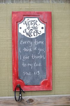 Red Verse of the Week Chalkboard  Scripture Memory  Bible by kijsa