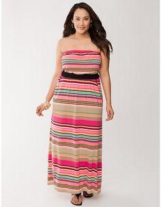 Plus Size Strapless Maxi Dress by Lane Bryant | Lane Bryant