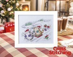 Cross stitch pattern – Snow much fun with these Christmas kitties! Stitch this cute project exclusive from much-loved designer, Margaret Sherry. You'll love these cats and their seasonal frolics in the new issue 221 of The World of Cross Stitching magazine