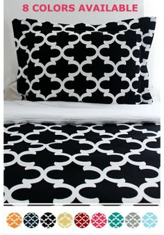 fretwork duvet and matching sham in color or your choice www.decor-2-ur-door.com